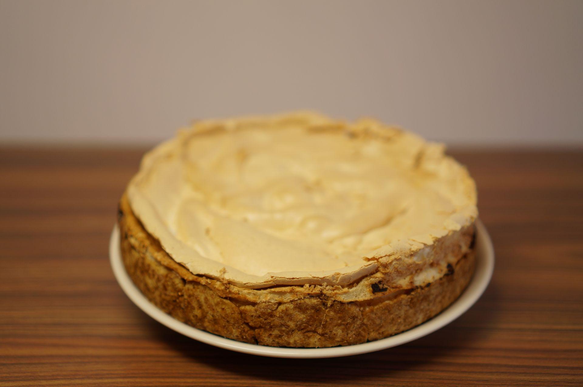 Varškės pyragas su baltymų
