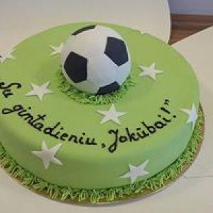 Cukruotos masės torto papuošimas Futbolas