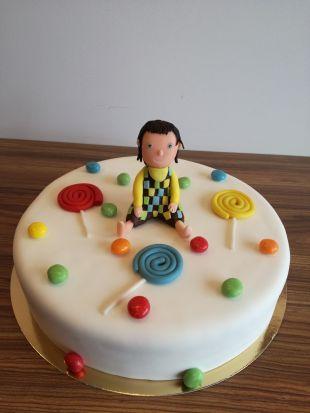 Cukruotos masės torto papuošimas kakė makė