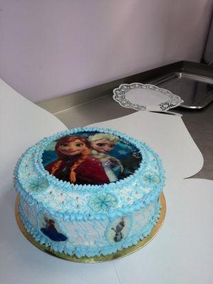 Frozen tortas su spausdintais paveikslėliais