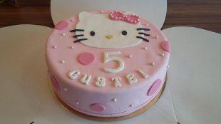 Hello Kitty su užrašu