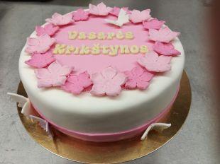 Krikštynų tortas su užrašu