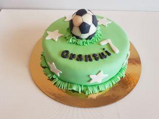 Tortas berniukui futbolo kamuolys