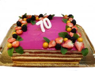 Tortas proginis, vaisiai, gėlės