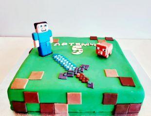 Tortas berniukui minecraft
