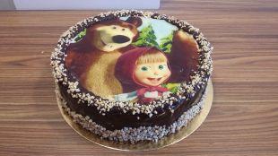 Valgomos dekoracijos tortas Maša ir lokys