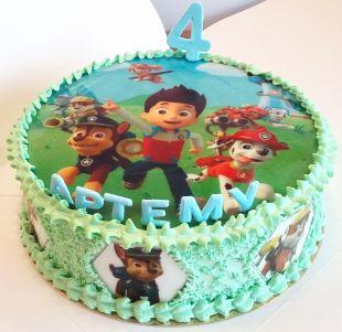 tortas berniukui paw patrol