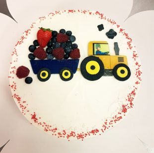 tortas berniukui traktorius