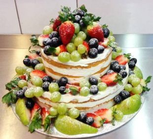 tortas proginis, gėlės, vaisiai